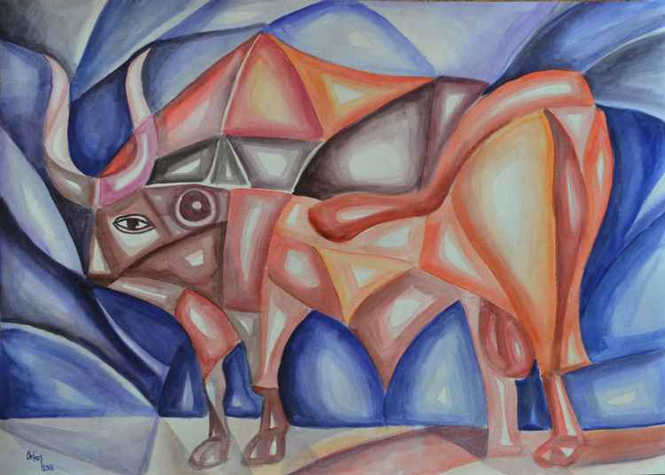CUBIST RED BULL -