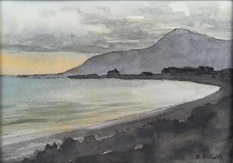 Sunset at Tyrella Beach