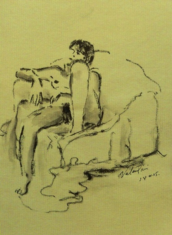 female nude on sofa - Image 0