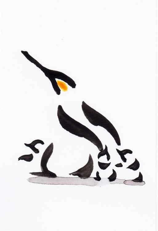 Penguin and three chicks 1015F