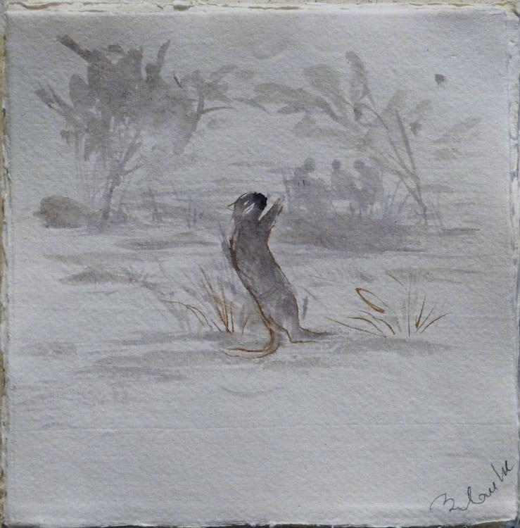 Cat on a ramble 2, 21x21 cm - Image 0