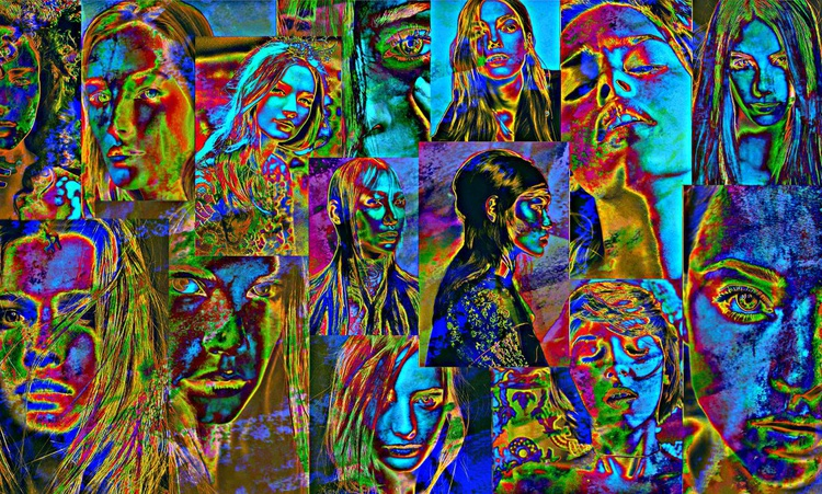 Faces - Limited Edition Canvas Print - Image 0