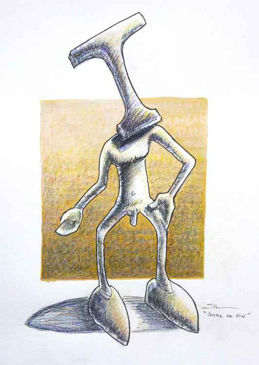"Pomme de pin ""sketch of sculpture"" -"