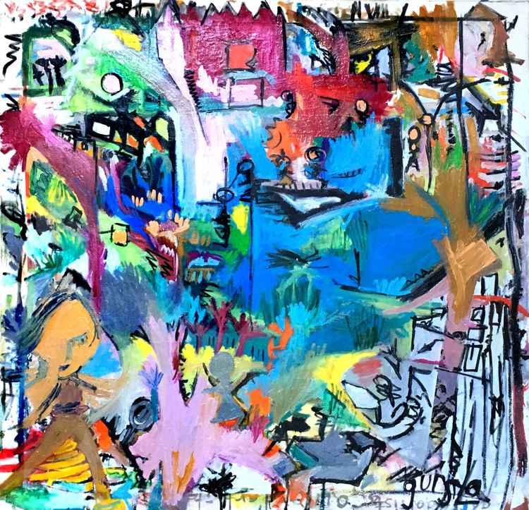 Erase(h)er Original Art, Oil on Canvas -