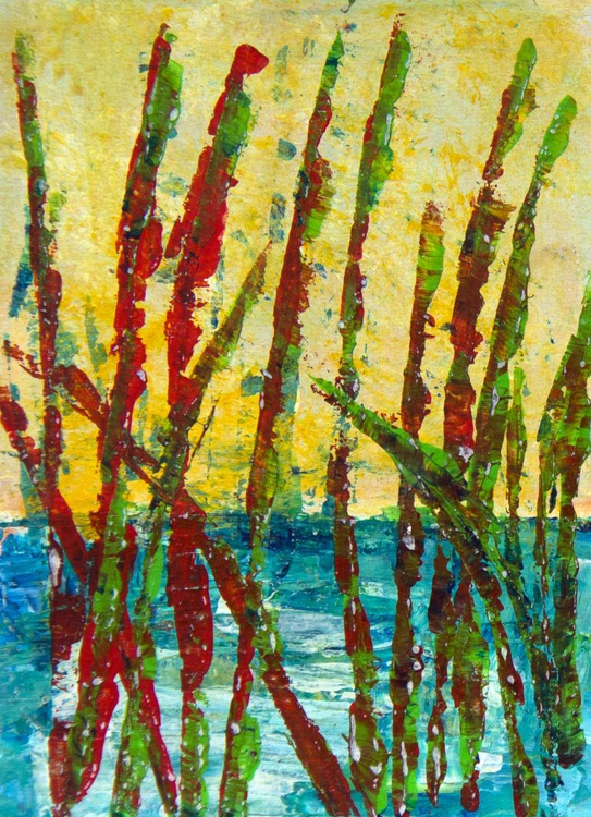 Reed bed (diptych) - Image 0