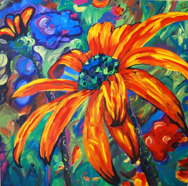 """Through Golden Indian Summer Days"" from The Earth Laughs In Flowers series"