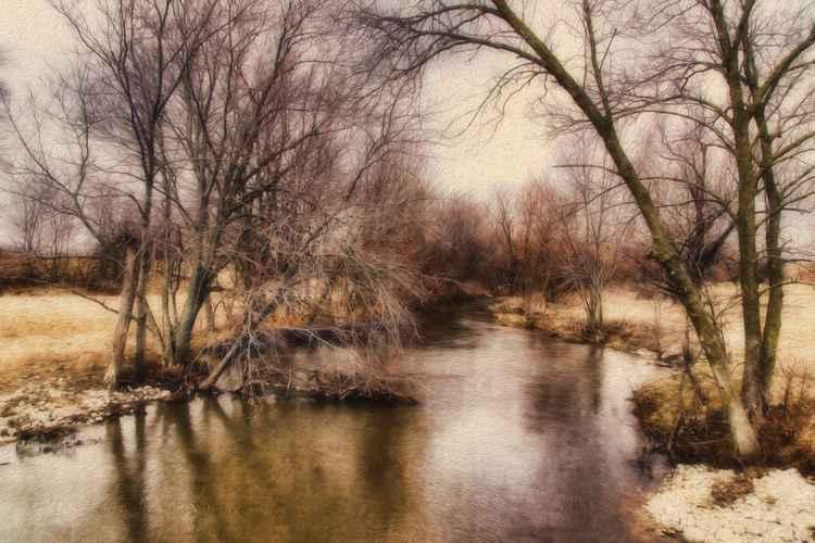 Awaiting Spring at a Prairie Stream -