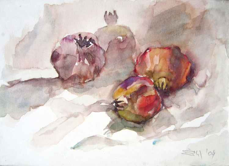 still life with pomegranates II -