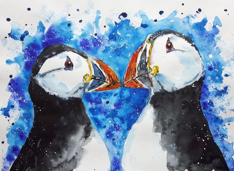 """Mr.and Mrs.Puffin"" - Image 0"