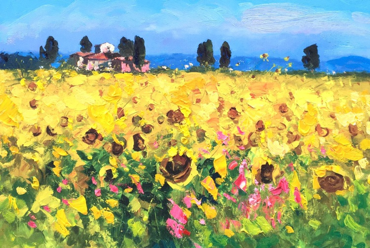 Sunflowers in Tuscany - Image 0