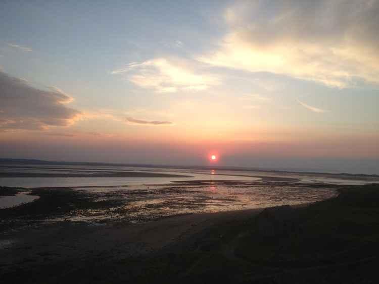 Lindisfarne sunset -
