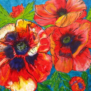 Poppies Galore by Vicki Usherwood