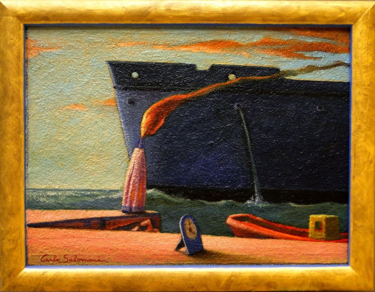 EXIT FROM THE PORT- (framed) - Image 0