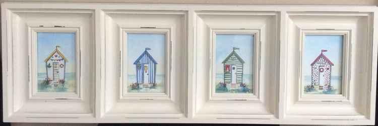 Beach Huts in a Rustic Frame