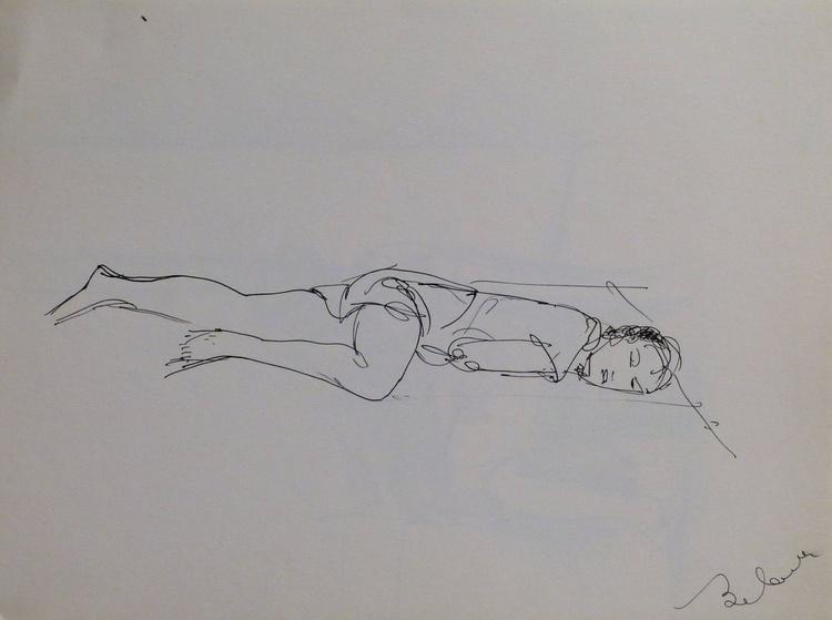 Woman lying down #3, 24x32 cm - Image 0