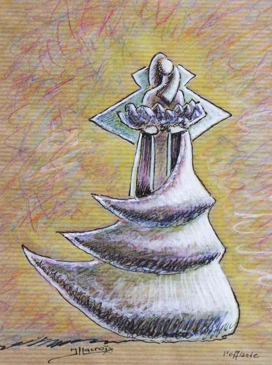 L'offrande ( sketch of sculpture ) -