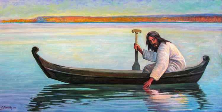 """""""Jesus in the boat"""" -"""