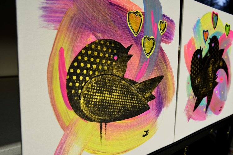 Love Birds (set of two paintings) - Image 0