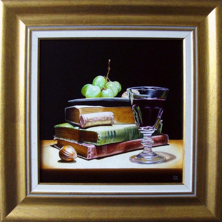Wine and antique books - Image 0