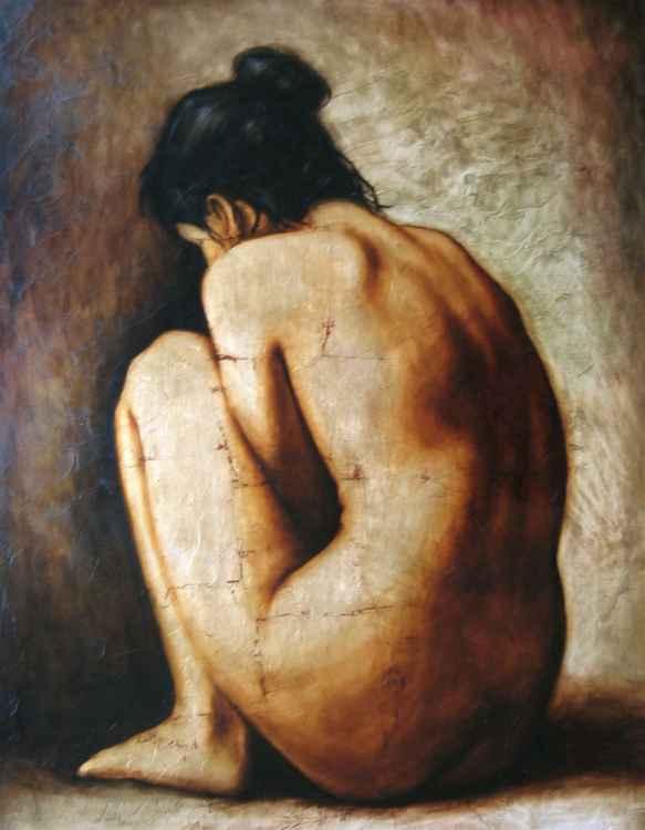 Crouching Nude -