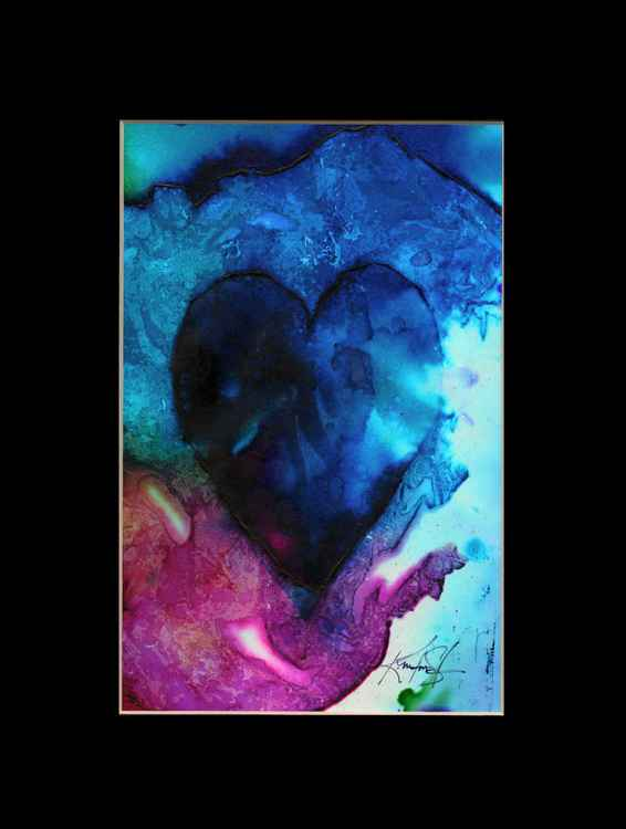 Heart Watercolor Painting, Abstract - Eternal heart No. 12 -