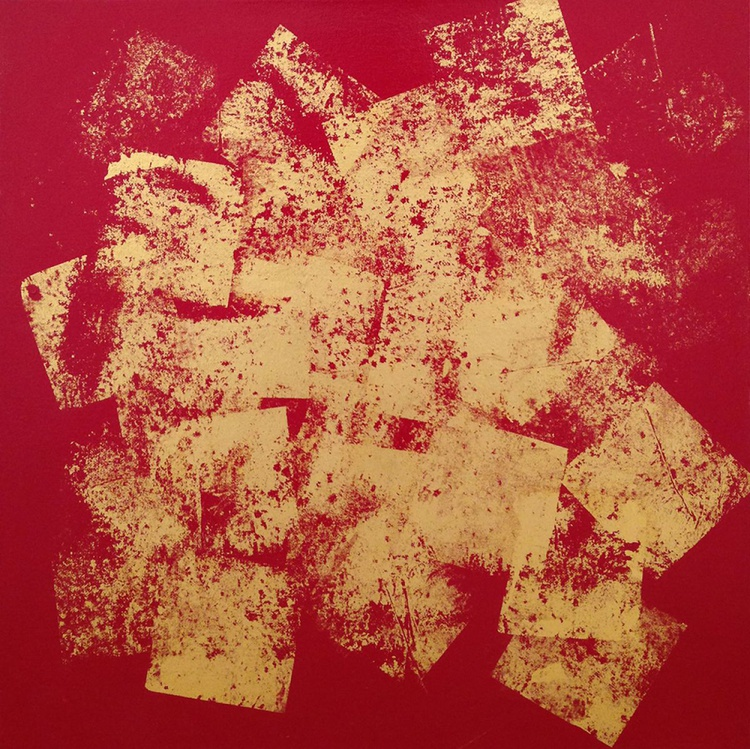 Gold and Red No 2 - Image 0