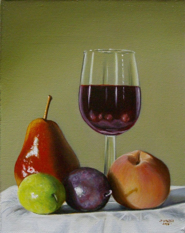 Fruits and wine / FREE SHIPPING - Image 0