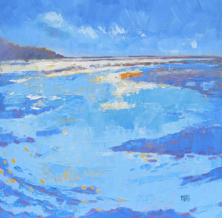 Seascape. Norfolk Bay Summertime. Impressionist Oil Painting. - Image 0