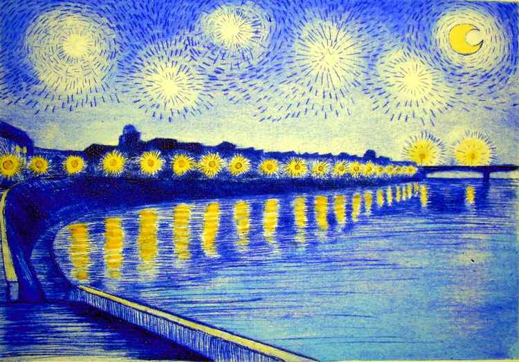 Vincent's starry night -