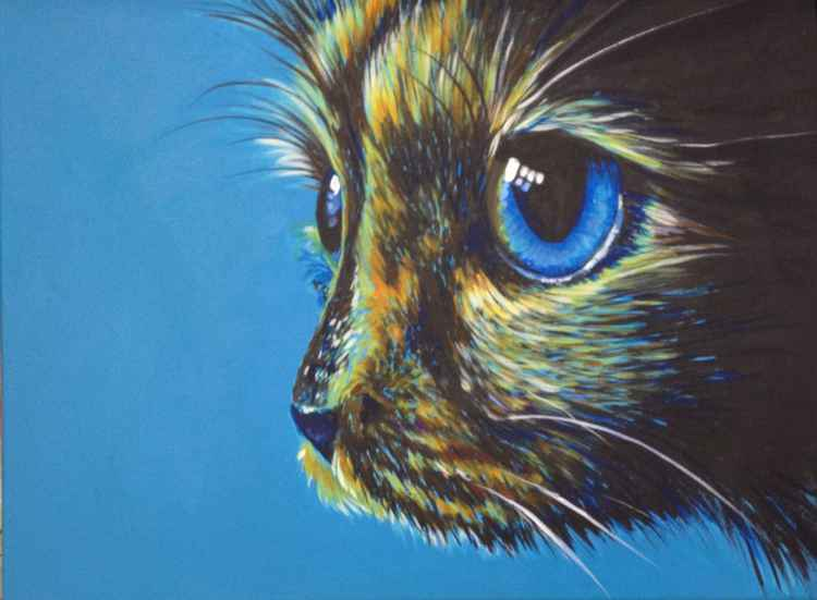 Original Painting of 'Little Poppy' by Kirstin Wood -