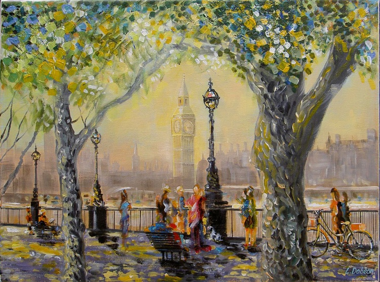 A Monet morning in London Town - Image 0