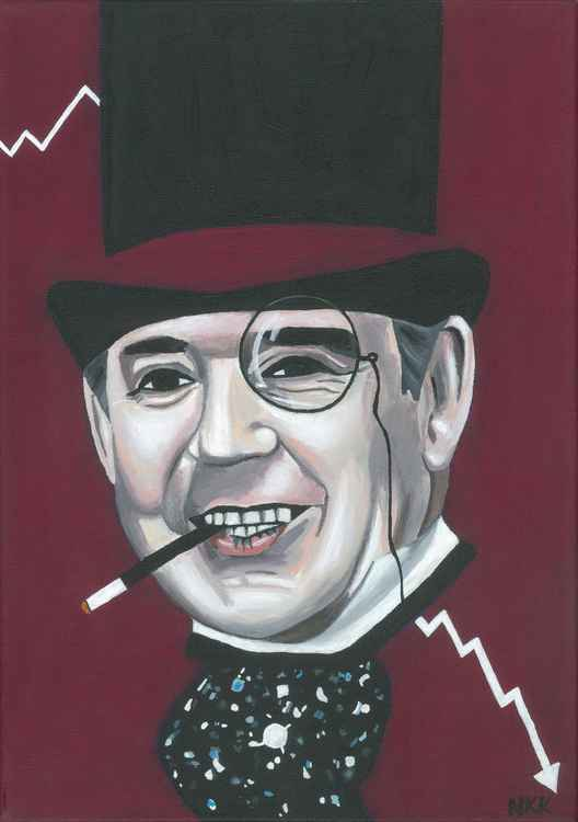 Gordon Brown as The Penguin.