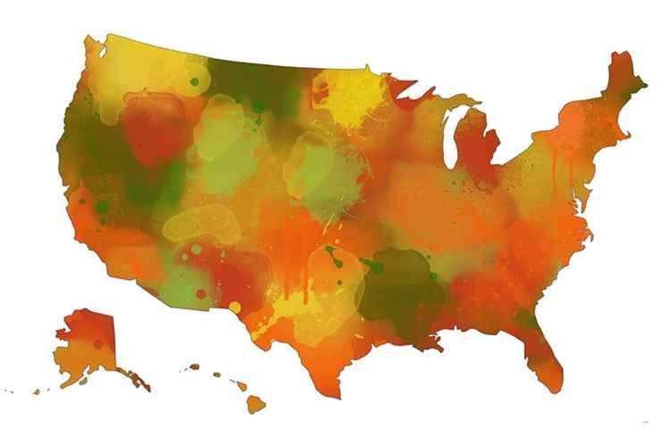 USA Map 10 -