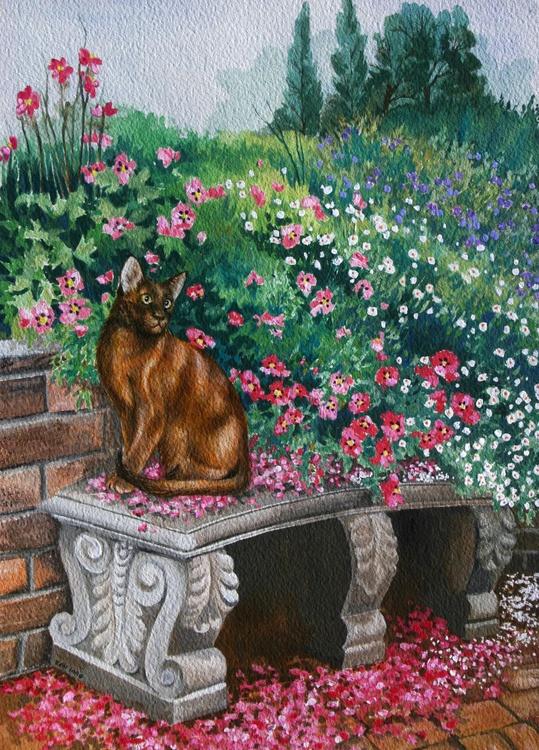 Oriental Cat in Garden - Image 0
