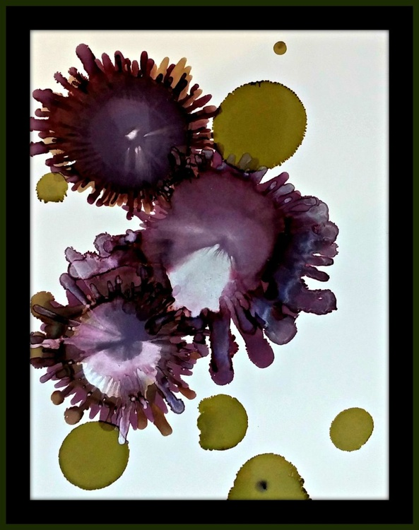 Grounded// Inky Goodness Floral Series // Ink painting on archival paper - Image 0