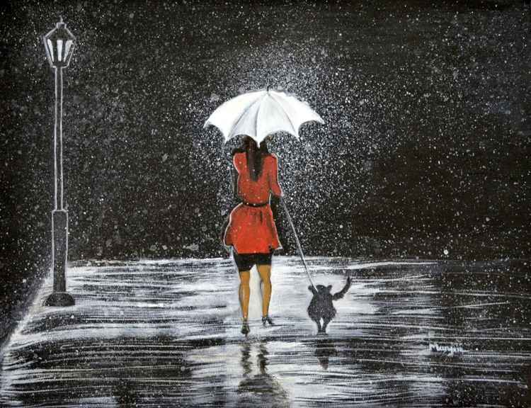 Stroll in the Rain -
