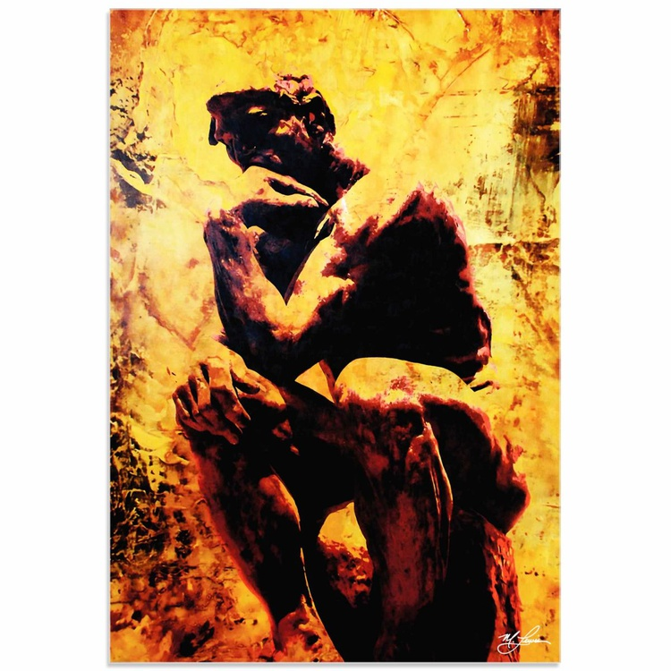Mark Lewis 'Rodin Clarified Thought' Limited Edition Pop Art Print on Acrylic - Image 0