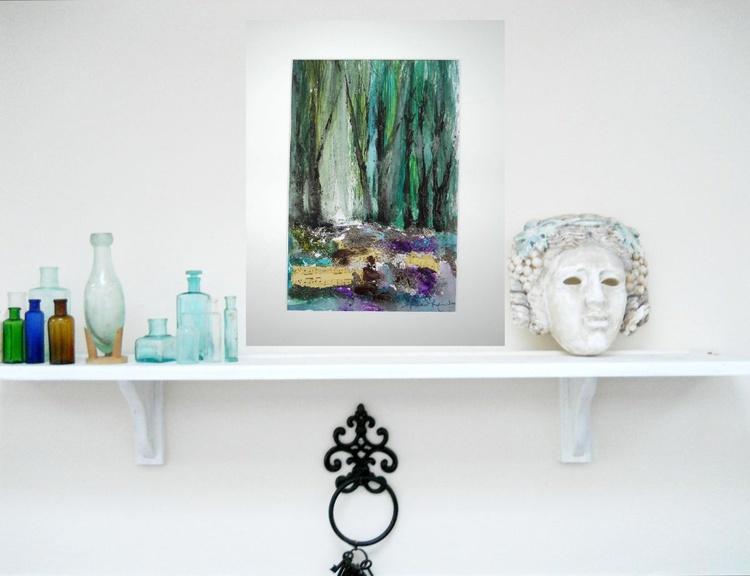 Song Bird Lane ~ Acrylic on card/Mounted ~ English Impressionist Painter - Image 0