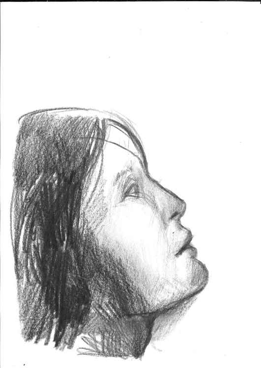 Profile, pencil drawing 20x14 cm