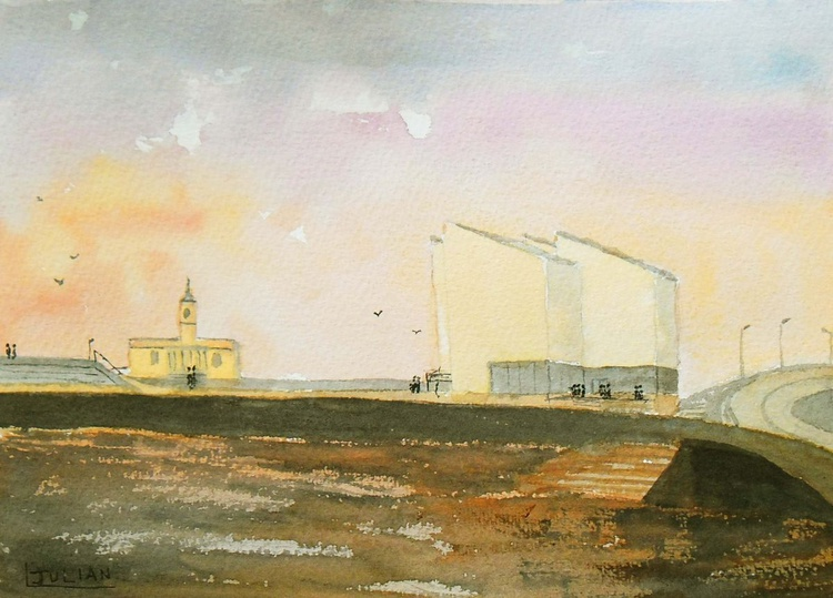 Evening Light over the Turner Contemporary Gallery, Margate. An original painting! - Image 0