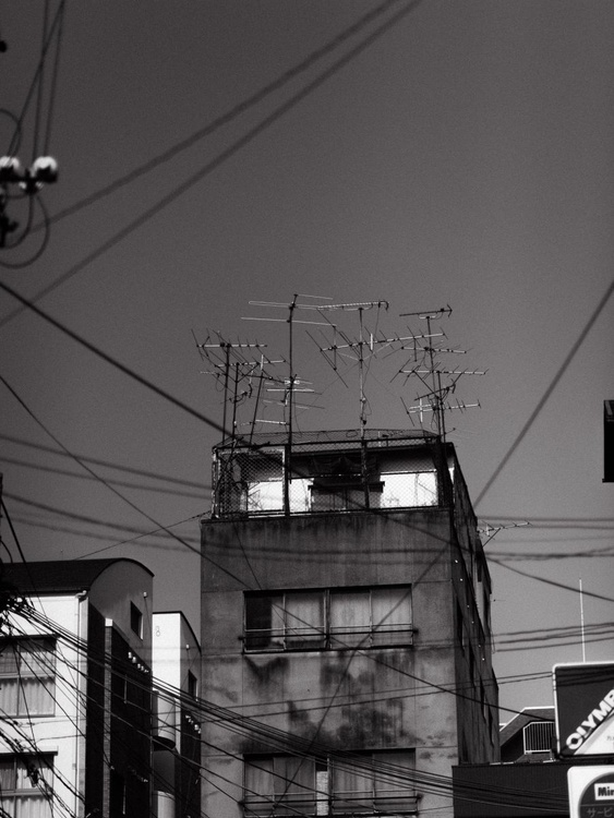 Apartment with TV antennas, from the Japan Notebook. - Image 0