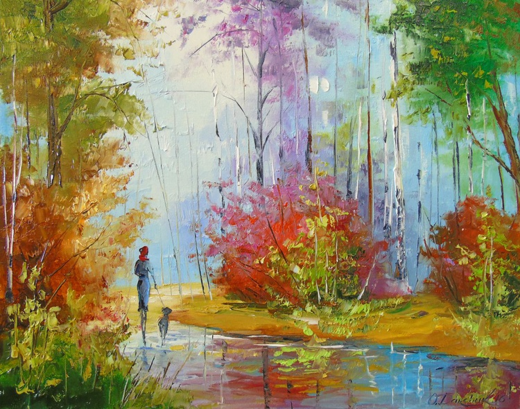 Walk in autumn forest - Image 0