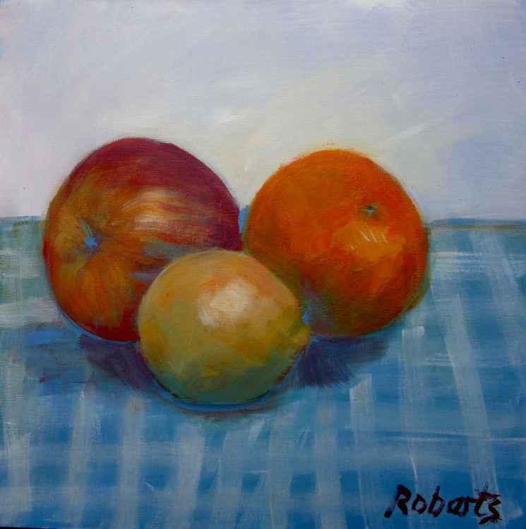 Apple, orange and a lemon