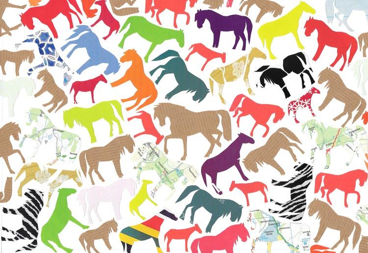 Horses (Hand Cut Collage) Original Picture - Image 0