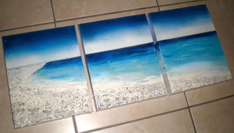Seascape Paradise (Triptych) - Image 0