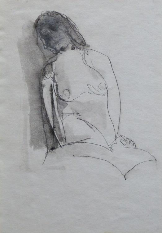Nude, Drawing 20x18cm - Image 0