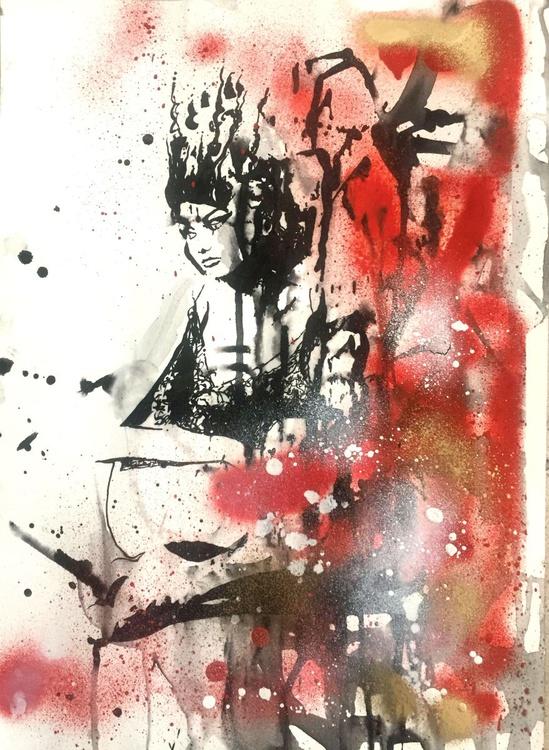 Lace Nymph - original mixed media painting - Image 0