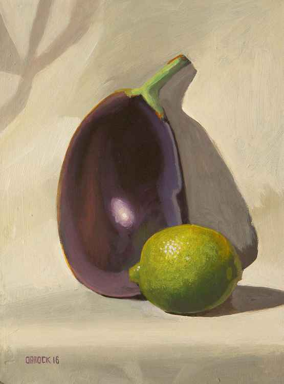 Lime and Aubergine -