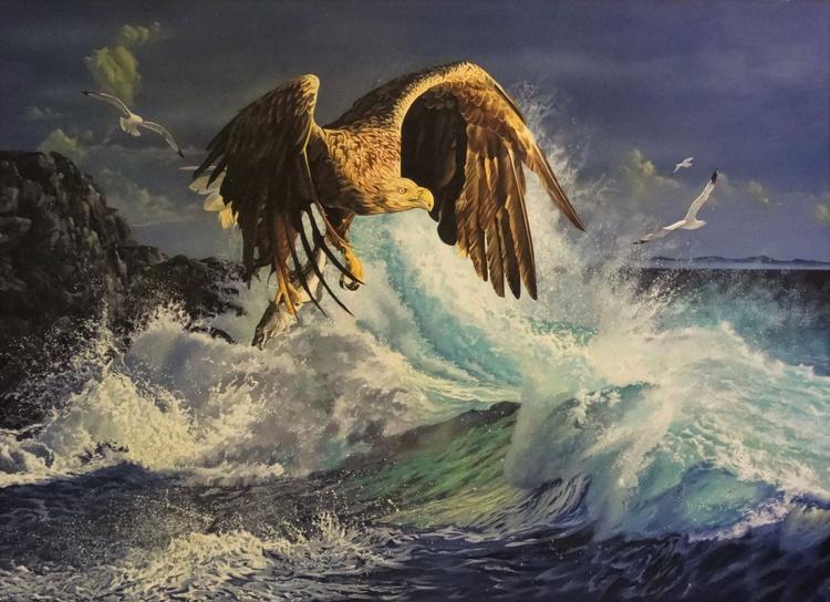 L'Aigle de la mer et mer déchainée - Image 0