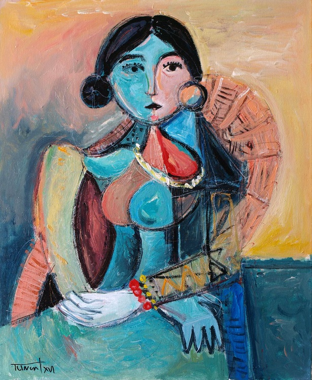 Woman sitting in an armchair - Image 0